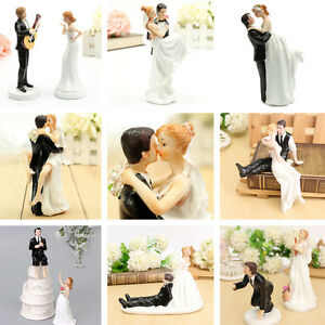 Bride Groom Resin Wedding Cake Topper Couple Figurine Romantic Decoration
