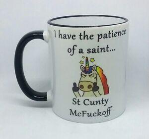 ST CUNTY MCFUCKOFF COFFEE MUG UNICORN NOVELTY RUDE CHRISTMAS PRESENT BIRTHDAY