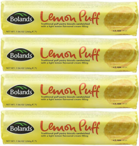 BOLANDS RETRO LEMON PUFF BISCUITS 4 x 200g UK STOCK