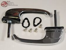 47-51 Chevy GMC Truck Outer Outside Exterior Pull Down Door Handles Set Pair New
