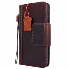 genuine natural leather Case for apple iphone 8 plus magnetic book wallet cover