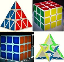 Fast & Smooth Combo 3 Layer Pyramid Puzzle+ 3x3x3 JUMBO Size Rubik's Magic Cube