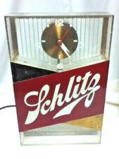 Schlitz lighted clock beer sign gold1959 Vtg bar topper shelf light Galaxy Mk7