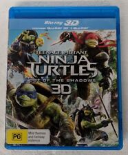 NINJA TURTLES: Out of the Shadows 3D + 2D Blu-ray 2-DISC All Region oz seller