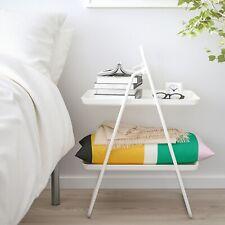 IKEA VIGGJA White Side Table Tray Stand 37x50x74cm Kitchen Utility Multiple-Use