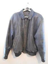 "Mens Size ""42"" Comstock Endurance Distressed Leather Flight Bomber Coat Jacket"
