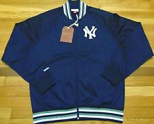 NWT MITCHELL & NESS MLB NEW YORK YANKEES BLUE TRACK JACKET SIZE L