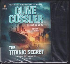 THE TITANIC SECRET by CLIVE CUSSLER ~UNABRIDGED CD's AUDIOBOOK