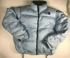 Vintage THE NORTH FACE  Blue Black Nuptse 600 Goose Down Puffer Coat Women XL