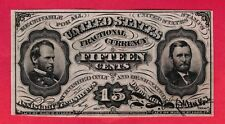 15 Cents Fractional Currency Specimen Sherman/Grant Signed Colby/Spinner