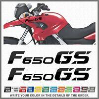 2x F650 GS Black BMW Motorrad ADESIVI PEGATINA STICKERS AUTOCOLLANT AUFKLEBER
