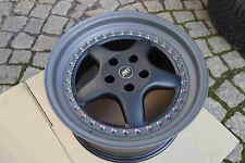 4 ABT A9 8,5x17 ET19 9x17 ET25 OZ 5x112 grey / black crackle AUDI SEAT VW SKODA