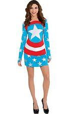 Marvel American Dream Women's Long Sleeve Dress One Size
