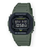 Authentic G-Shock Men's Digital Square Green Strap Watch DW5610SU-3