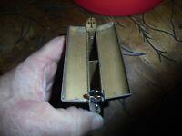 Ancienne Boite à Cigarette Métal Argenté pour Pochette de Veston ou Sac de Dame