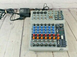 Peavey PV8 8-Channel Compact Pro Audio Mixing Board / Mixer w/ Power Adapter