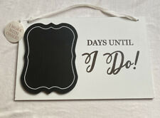 Wedding Countdown Sign. Days Until Wedding Hanging Sign. Write Date With Chalk