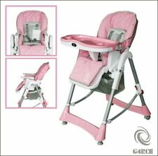 G4RCE 3 in 1 Foldable Toddler Feeding Recliner High Chair - Pink