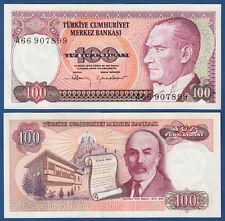 TÜRKEI / TURKEY 100 Lira 1970 (1984)  UNC  P.194 a