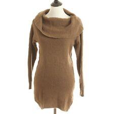 JJ's Fairyland Sweater Medium Brown Long Sleeve Cowl Neck Knit Pullover B62