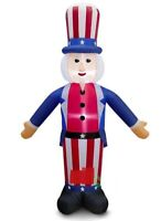 HALLOWEEN JULY 4TH PATRIOTIC MEMORIAL DAY UNCLE SAM INFLATABLE AIRBLOWN 8 FT