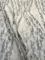 Baylis Rain Silver Jacquard Designer Fabric By The Yard