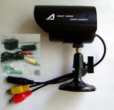 Cctv Surveillance Bullet Wired Camera + 100 Feet Cable & Power Supply