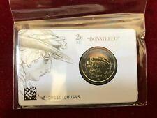 ITALIA ITALY 2 euro 2016 COIN CARD MORTE di DONATELLO  FDC
