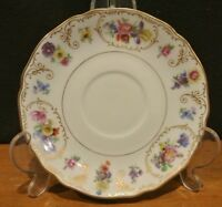 Franconia K&A Krautheim Dresden Flowers Footed Saucer