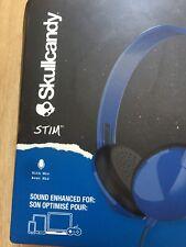 New Skullcandy Stim On-Ear Wired Headphones In-Line Mic black head phones