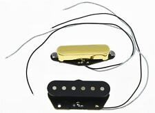 Gold Set of 2 Neck & Bridge Standard Sound Tele Pickup Telecaster Pickups