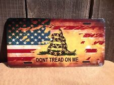 Dont Tread On Me 2nd Amendment Guns Novelty License Plate Bar Wall Decor