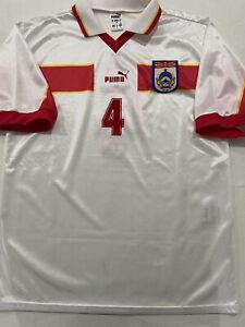 Macedonia National Team Match Worn Shirt Jersey Maillot #4 1999 Euro Qual. Puma