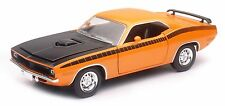 NEW RAY 1970 PLYMOUTH CUDA Orange 1/24 Scale DIECAST CAR Model SS-71875