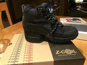 z coil shoes Black women's 7 Outback Hiker Enclosed heel NEW