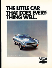 1972 Chevrolet Vega GT Kammback Sales Brochure Book