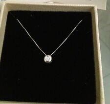 Collier Punto Luce Oro Bianco 18 kt e diamante 0,12 Ct super offerta 10 pezzi