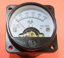 Brand New 100mA Panel Meter For 300B 211 845 6550 EL34 KT66 KT88 Tube Amplifier
