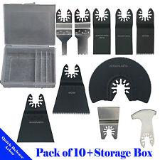 10+ Pc Saw Blade Oscillating Multi Tool Porter Cable Dewalt Makita Craftsman Bag