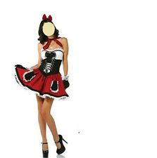 New Sexy Red Riding Hood Ladies Women Fancy Dress Costume - size 6-10