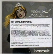 (CB927) Bearsuit, When Will I Be Queen? - 2011 DJ CD