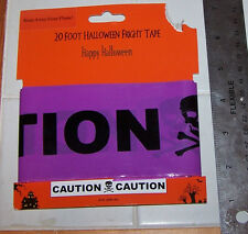 "NIP Halloween Fright Tape CAUTION TAPE 20 Feet  "" CAUTION """