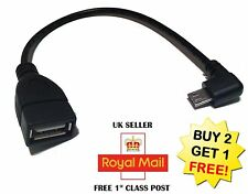 Micro USB Host Cable Male to USB Female OTG Adapter Android Phone Right Angle