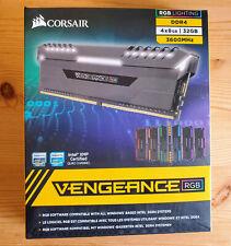 Corsair Vengeance RGB 32GB 4x8GB DDR4 3600MHz C18 CMR32GX4M4C3600C18 Quad Kit