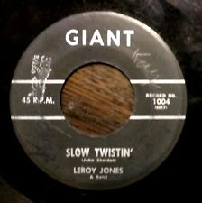 R&B SOUL POPCORN 45: LEROY JONES & BAND Twistin' the Night Away/Slow Twistin'