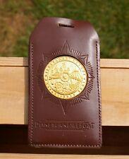 Walt Disney Disneyland Resort Established 2001 Token Leather Luggage Tag