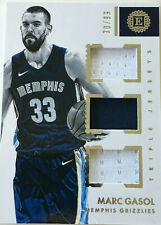 NBA Basketball-marc gasol-Panini encased triple Jersey card 30/99