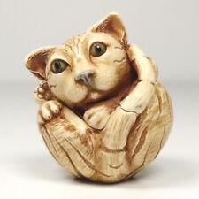 Harmony Kingdom Treasure Jest Box Roly Poly Homer the Cat Kitty 2001 Canadian