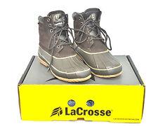 Mens LaCrosse Duck Boots 6 Eye Leather PAC 424410 Sz 8 Waterproof Leather LN