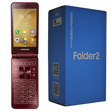 BNIB Samsung Galaxy Folder 2 SM-G1650 16GB Red Flip Factory Unlocked 4G GSM